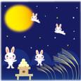 お月見&うさぎ