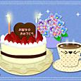 2012誕生ケーキとあじさい