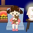 2012暖炉と少女